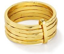 Stacked-Effect Ring in 18K Gold-Plated Sterling Silver
