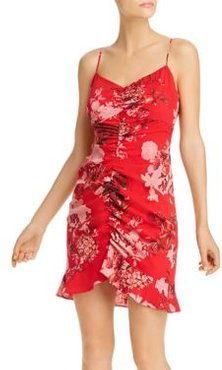Kaila Ruched Floral Dress