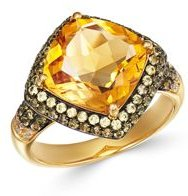 Citrine & Yellow Sapphire Ring in 14K Yellow Gold - 100% Exclusive