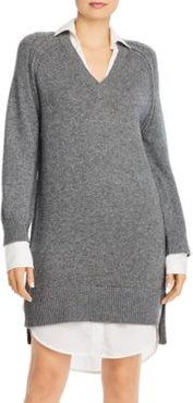 Looker Wool & Cashmere Layered-Look Dress