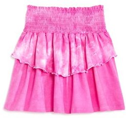 Girls' Ruffled Tie-Dyed Skirt - Big Kid