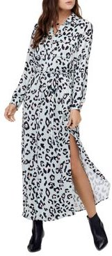 Lola Animal Print Shirtdress