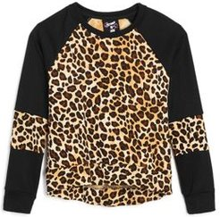 Girls' Leopard Long Sleeve Sweatshirt - Little Kid