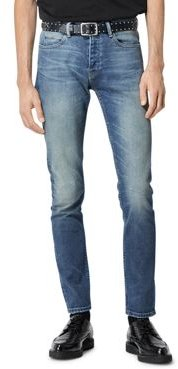 Faded Slim Stretch Jeans in Blue