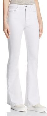 Holly High Rise Flare Jeans in White