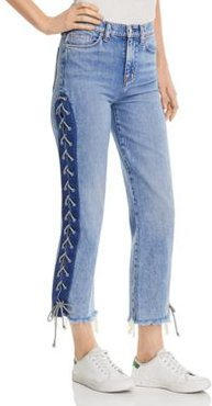 Zoeey High Rise Crop Straight Jeans in High Spirits