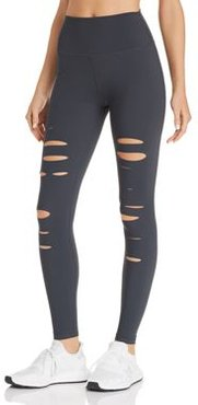 High-Waist Ripped Warrior Leggings