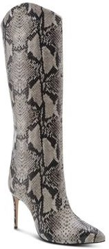 Maryana Snake-Embossed High-Heel Boots