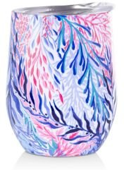 Insulated Stemless Tumbler, Kaleidoscope Coral