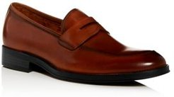 Brock Leather Apron-Toe Penny Loafers