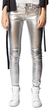 Phlame Leather Skinny Pants