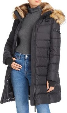 Faux Fur Trim Hooded Puffer Coat - 100% Exclusive