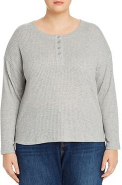 Waffle-Knit Henley Top - 100% Exclusive
