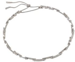 Pave Bar Statement Necklace, 15-18