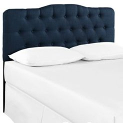 Annabel Upholstered Fabric Headboard, King