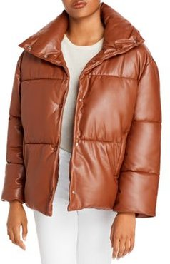 Bagatelle. nyc Oversize Faux Leather Puffer Jacket