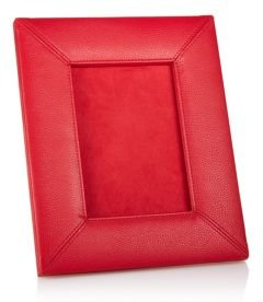 Pebbled Faux Leather Picture Frame