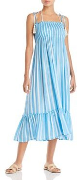 Piper Toiny Striped Midi Dress Swim Cover-Up