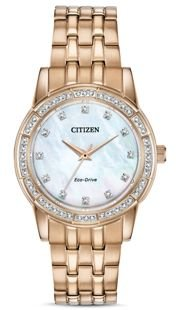 Silhouette Crystal Embellished Rose Gold-Tone Watch 31mm