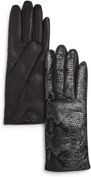 Python Printed Leather Gloves - 100% Exclusive