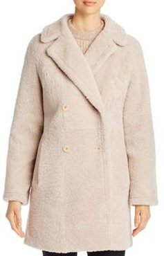 Double-Breasted Shearling Coat - 100% Exclusive