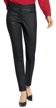 Straight-Leg Coated Jeans in Black