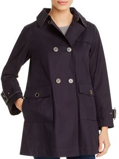 Monogrammed Double-Breasted Trench Coat