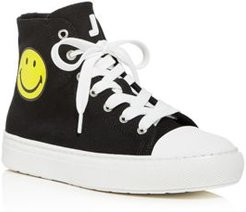 Smiley High-Top Sneakers