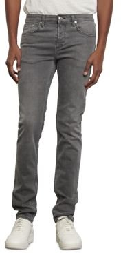 Washed Slim Fit Jeans in Gray
