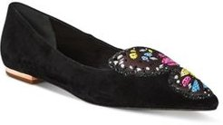 Butterfly Embellished Flats