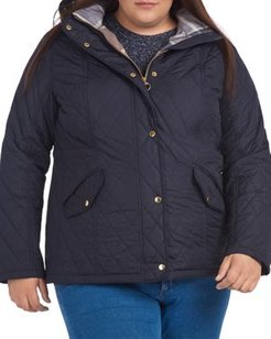 Plus Millfire Hooded Quilted Coat