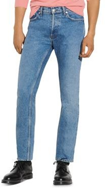 Slim Cotton Jeans in Faded Blue