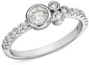 Diamond Bezel Cluster Ring in 14K White Gold, 0.60 ct. t.w. - 100% Exclusive