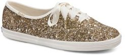 x kate spade new york Women's Glitter Lace Up Sneakers