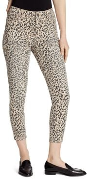 High Rise Skinny Ankle Jeans in Cheetah