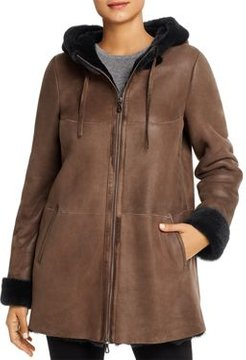 Hooded Shearling Coat - 100% Exclusive
