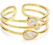 Layered Ring in 18K Gold-Plated Sterling Silver