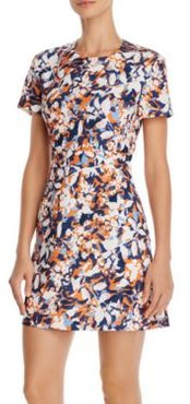 Enid Abstract Floral-Print Mini Dress