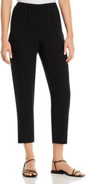 Eileen Fisher Petite System Silk Tapered Ankle Pants