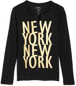 Girls' New York Long Sleeve Tee - Big Kid