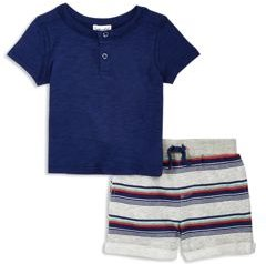 Boys' Tee & Striped Shorts Set - Baby