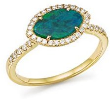 14K Yellow Gold Opal Marquise Ring with Diamonds