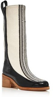 Domma Woven Tall Boots