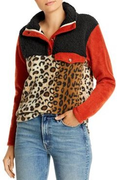 Charm Color-Blocked & Patterned Fleece Pullover