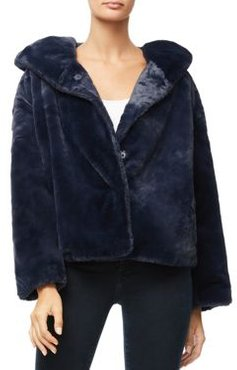 The Hooded Faux Fur Jacket