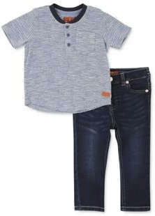 Boys' Thermal Henley Tee & Jeans Set - Baby