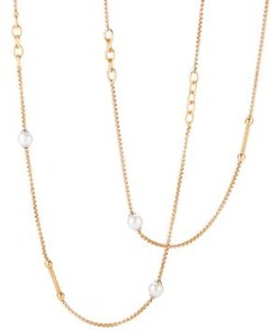 Cultured Freshwater Pearl Station Necklace, 36