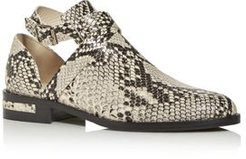 Spark Snake-Embossed Ankle Strap Booties