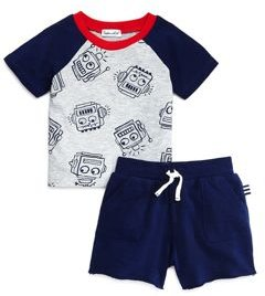Boys' Printed Tee & Shorts Set - Baby