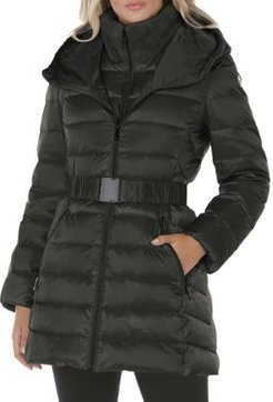 Claire Faux Fur Collar Hooded Puffer Coat